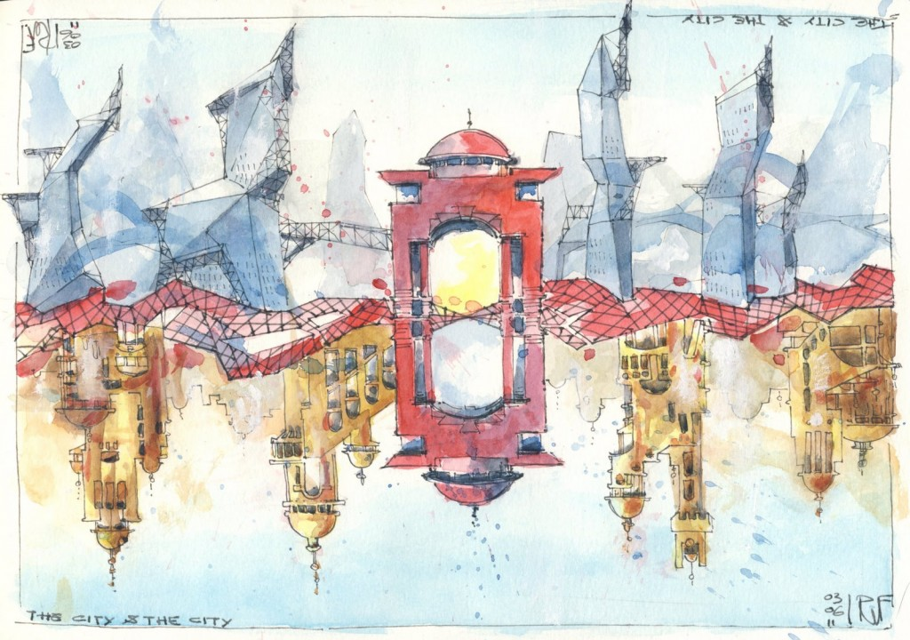 Ilustración de Rene Fijten inspirada en la obra de Miéville, http://renefijten.blogspot.com.es/