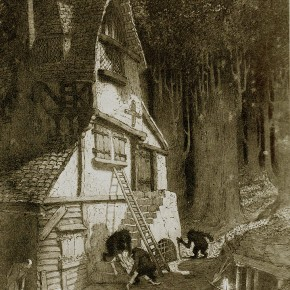 En portada: Ilustración de Sidney Sime; The Lean High House Of The Gnoles (1912)