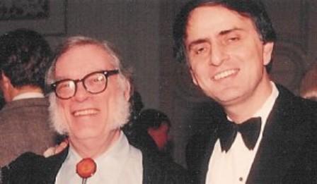 Asimov-con-Carl-Sagan