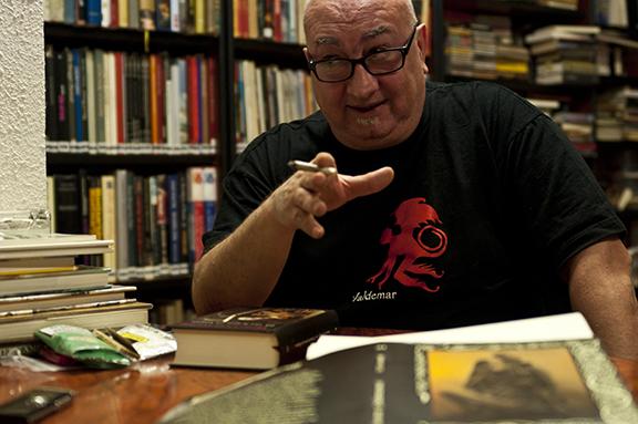 Rafael Diaz Santander editor de Valdemar. Foto de Javier Sauras para Fabulantes