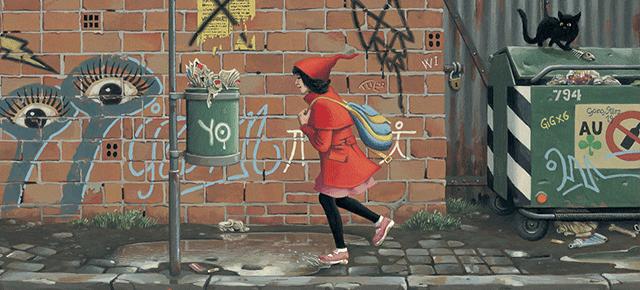 La niña de rojo, Roberto Innocenti/ Aaron Frisch: Para niños despiertos