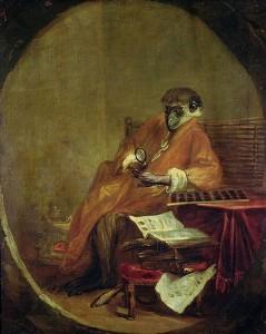 Jean Baptiste Chardin, El mono anticuario,