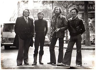 "De izquierda a derecha: Bernard Farkas, Jean-Pierre Dionet, Philippe Druillet y Jean Giraud ""Moebius"""