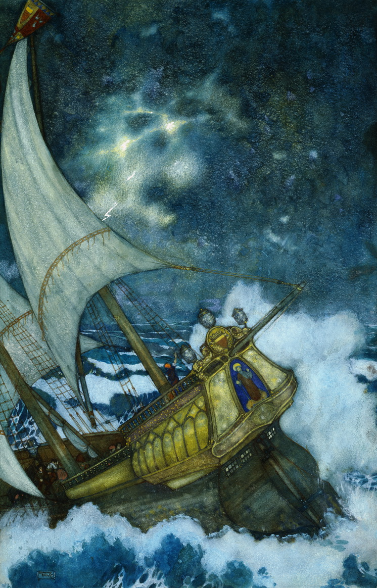 "The Wreck, from ""The Tempest"" by Edmund Dulac"