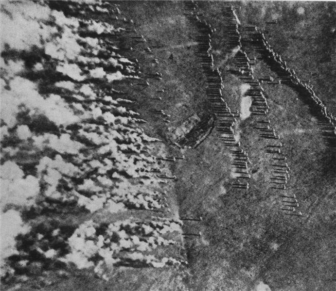Ataque alemán con gas en el frente occidental.