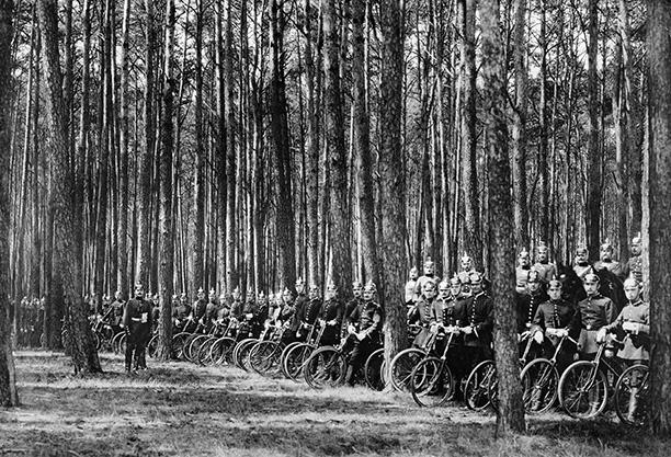 Cuerpo de bicicletas alemán.