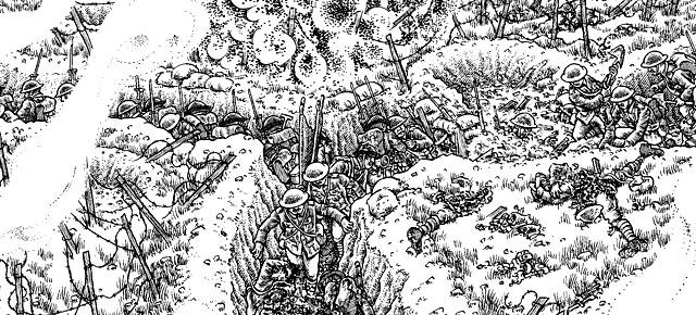 La Gran Guerra, Joe Sacco: El primer día de la Batalla del Somme en 7,3 metros