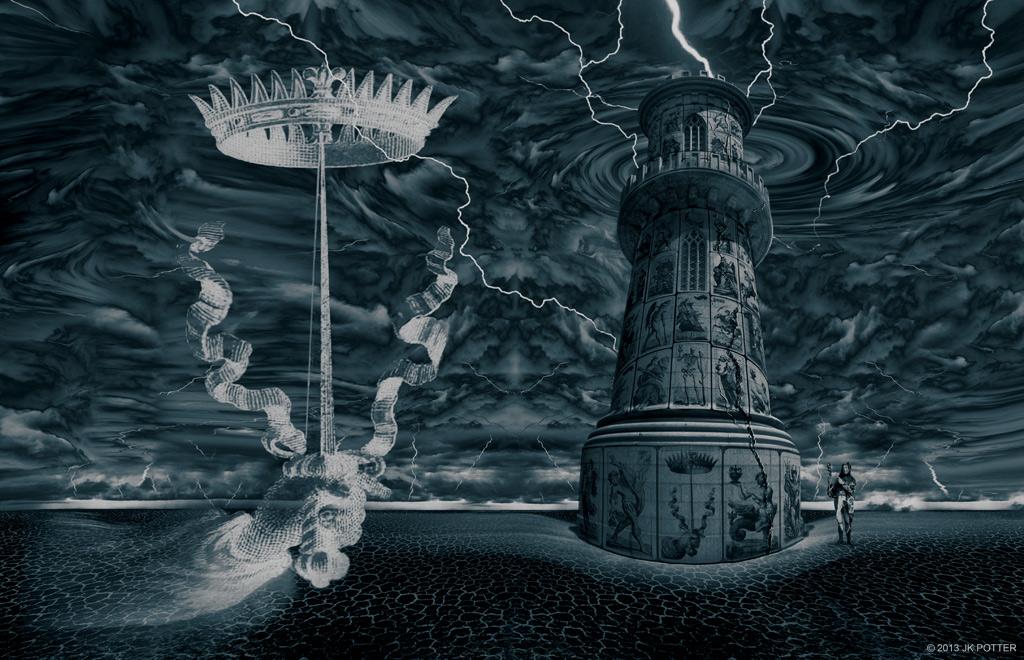 Ilustración realizada por Jeff Knight Potter para la edición Subterranean Press de La Última Partida / The Last Call.
