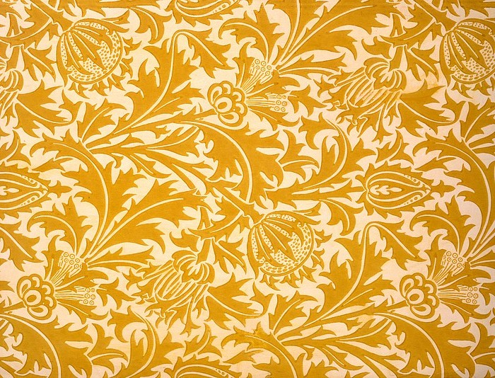thistle-wallpaper-design-late-19th-william-morris