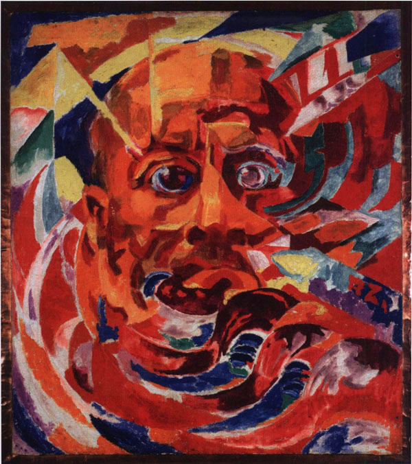 Rougena Zatkova, 'Retrato de F. T. Marinetti' (1920).