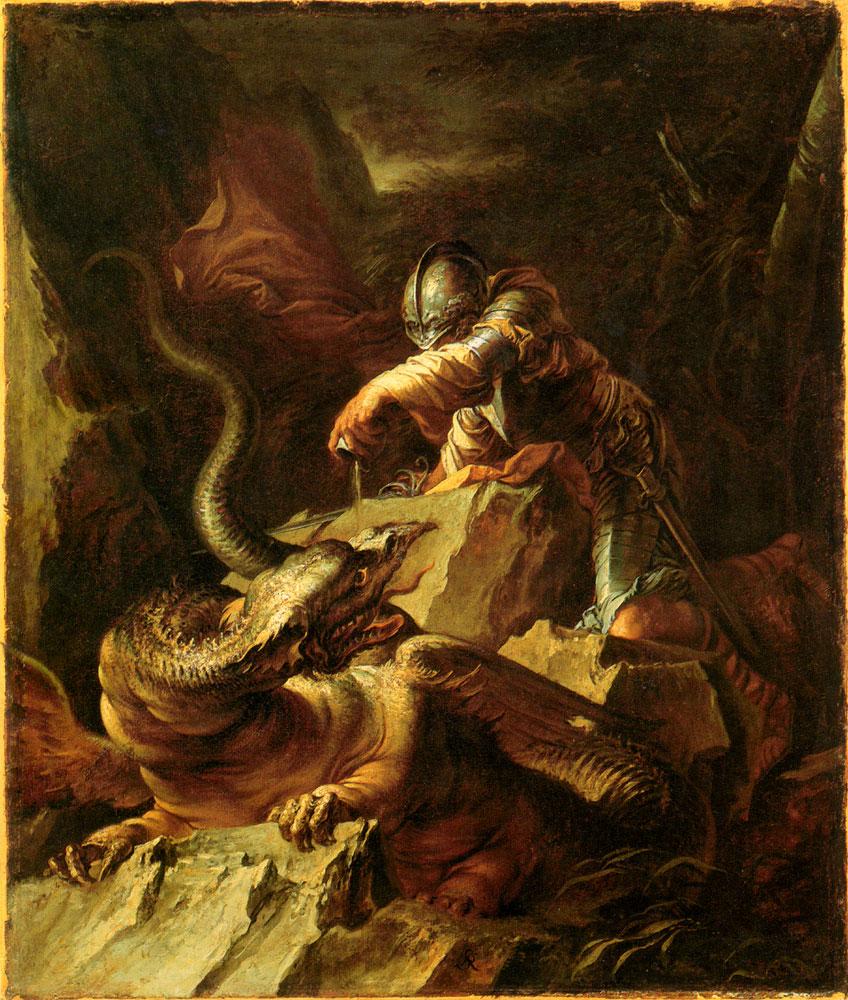 Salvador Rosa, Jason encantando al Dragón, 1600.