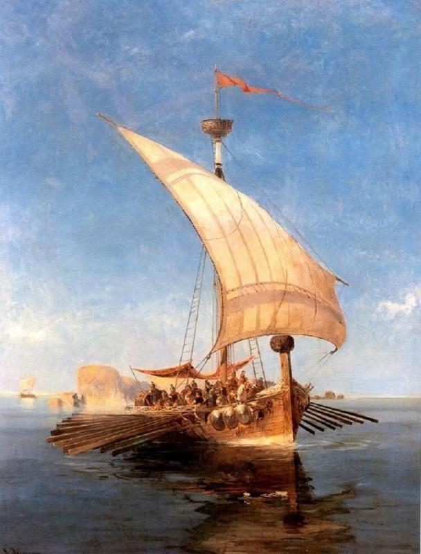 El Argo, por Konstantinos Volanakis 1837, 1907.