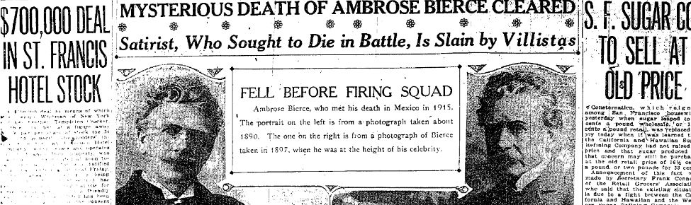 La desaparición de Ambrose Bierce
