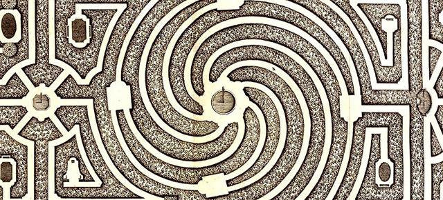El jardín de senderos que se bifurcan, J. L. Borges: Doblar siempre a la izquierda