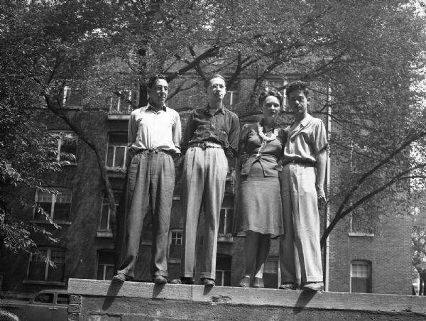 Gauer y Bloch junto a C.L. Moore y Henry Kuttner