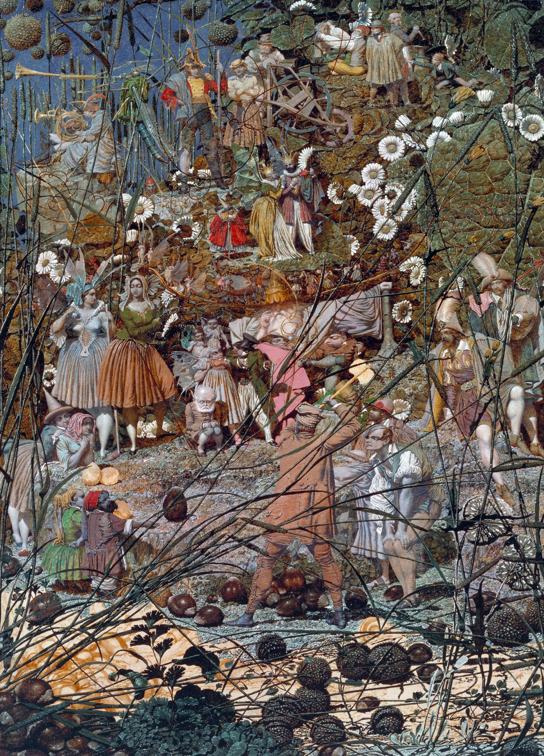 The Fairy Feller's Master-Stroke, 1855-1864, pintura realizada por Richard Dadd