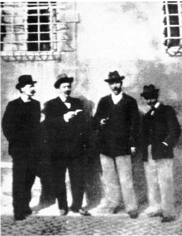 George Gissing,. E.W. Hornung, Arthur Conan Doyle. and H.G. Wells