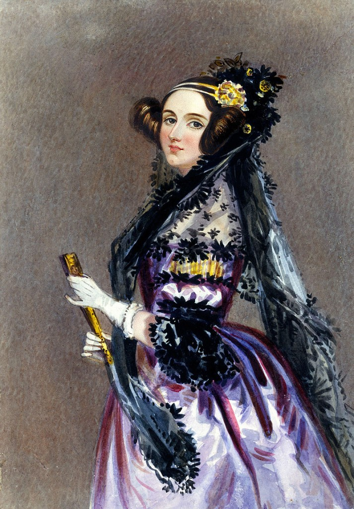 Ada_Lovelace_portrait, Alfred Edward Chalon, 1840