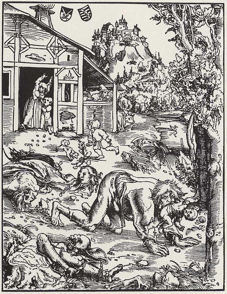 Lucas Cranach el Viejo: Hombre lobo, 1512. Se sostiene que este ...
