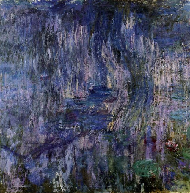 Monet, Waterlilies and Reflections of a Willow Tree, 1916-19