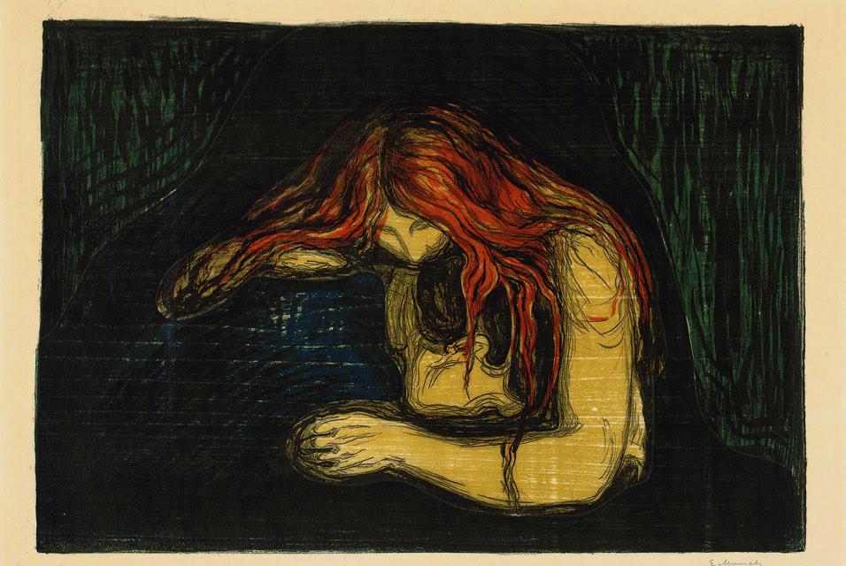 Munch, Vampire, 1895-1902