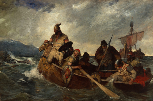 oscar arnold wergenald, The Norwegians landing in Iceland in 872 copy