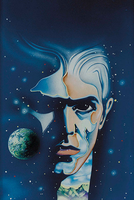The Man Who Fell To Earth. Ilustración de Tony Wright.