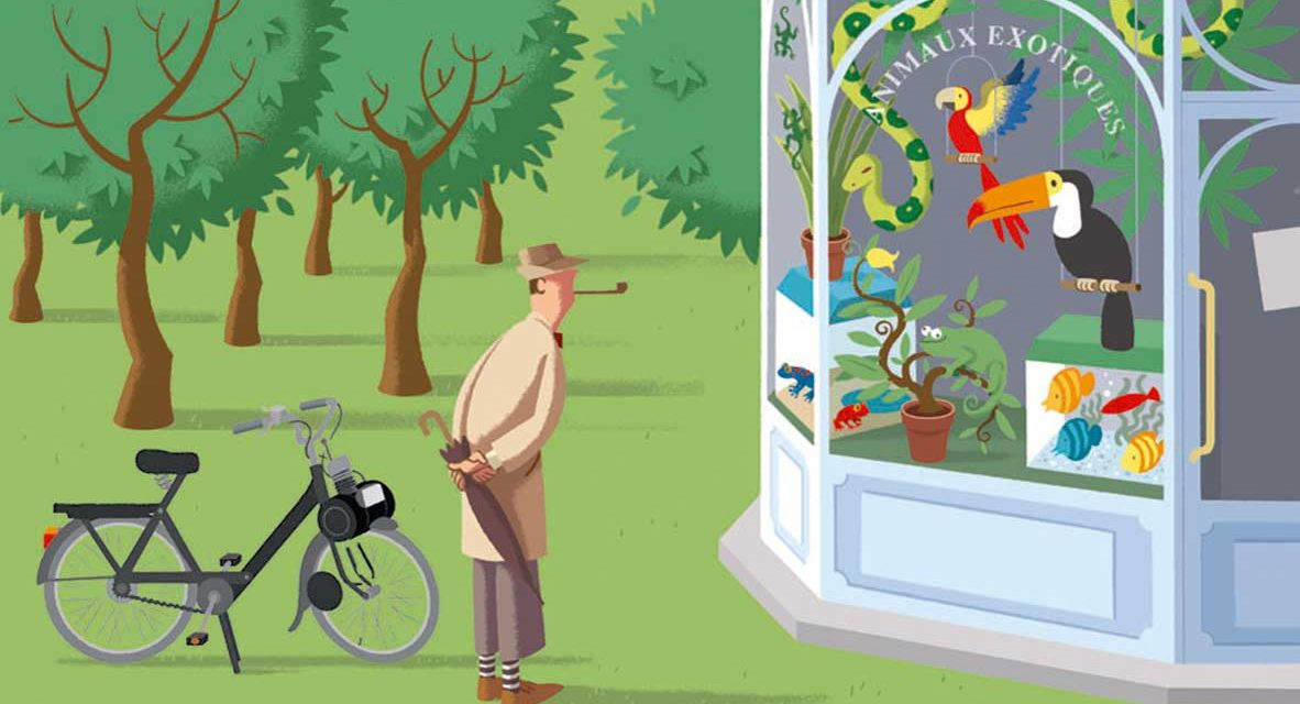 El papagayo de Monsieur Hulot, David Merveille: Bullicio sin palabras